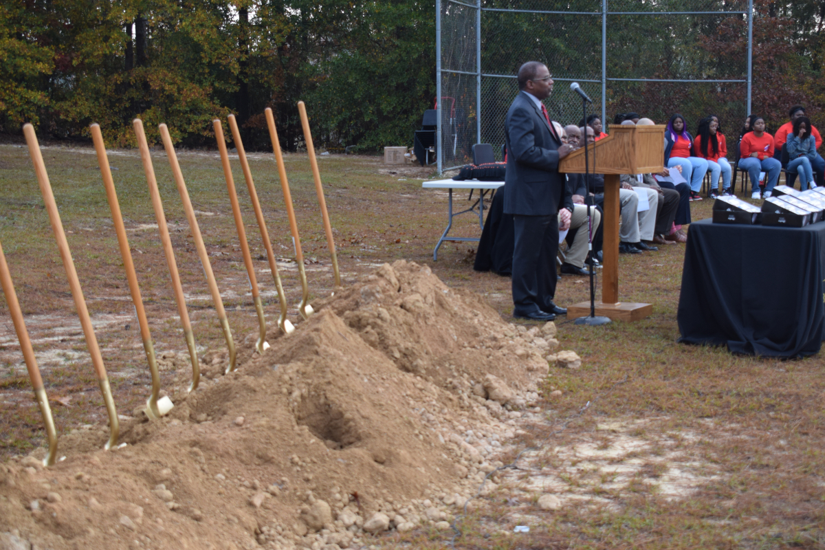 Groundbreaking for ballfields back in December